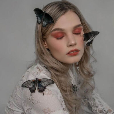 Papilio Memnon фотосессия с девушкой