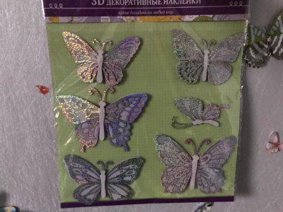 Наклейки с бабочками на стену в комнату