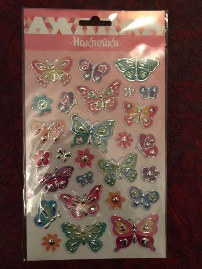 Набор наклеек и стикеров с бабочками