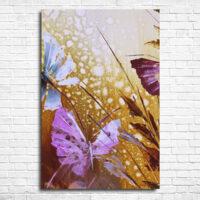 Картина - Бабочки в траве